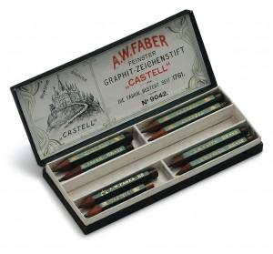 Boîte historique de crayons