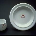Une des assiettes parmi les 12 000 composant le service du Titanic