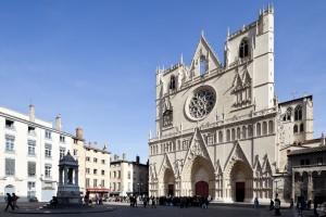 Au coeur du vieux Lyon, la Primatiale Saint Jean est un édifice du XIV ème siècle