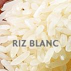 Blanc, le riz le plus consommé