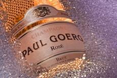 Les fines bulles du Rosé Brut Premier Cru du champagne de vigneron Paul Goerg