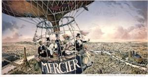 1900 : boire une coupe en montgolfière ou le brin de folie Mercier !