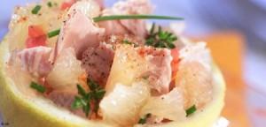 Une entrée légère et fraîche avec du haddock en salade