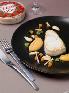 Du cabillaud relevé par une purée patate douce - camembert