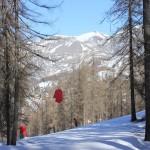 En skiant il faut toucher les mains