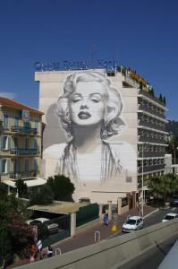 Mur peint avec Marylin Monroe