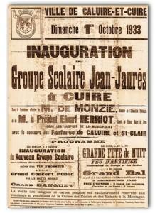 Affiche témoin d'une école appelée Jean Jaurès
