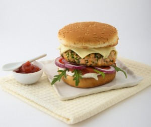 Le burger saumon roquefort