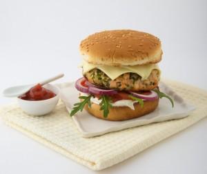 Le burger saumon roquefort