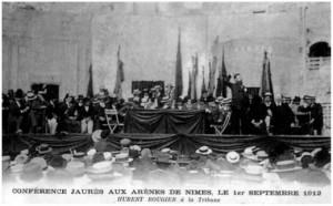 Jaurès dans les arènes de Nîmes en 1912