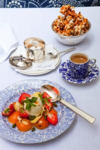 Glace à la vanille et abricots pour un dessert light