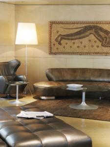 Des mosaïques dans le hall
