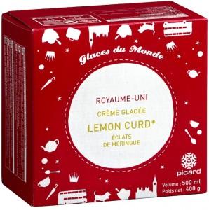 Lemon Curd à l'anglaise et morceaux de meringue pour Picard
