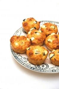 Muffins au Valencay et aux carottes