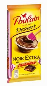 Du chocolat noir et du carambar fondant et régressif en bouche !