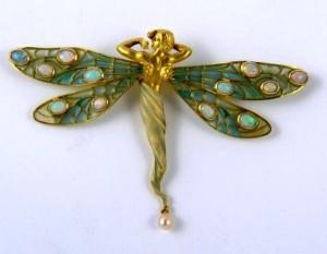 Un bijou typiquement Art Nouveau
