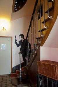 L'escalier de l'hôtel Détective
