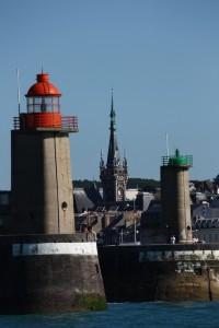Les phares et le clocher de Fécamp