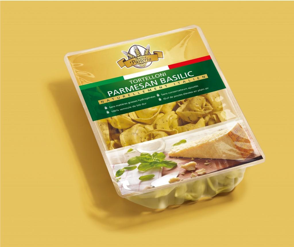 Les tortelloni fourrées parmesan & basilic