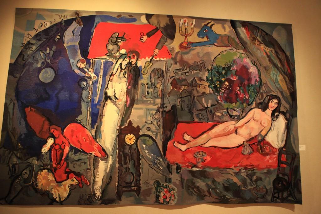 A ma femme de Chagall, seul nu du peintre transposé en tapisserie