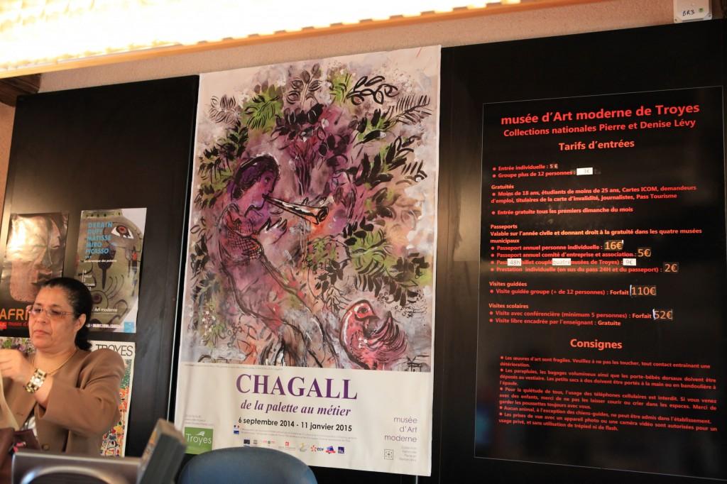 Affiche de l'expo Chagall