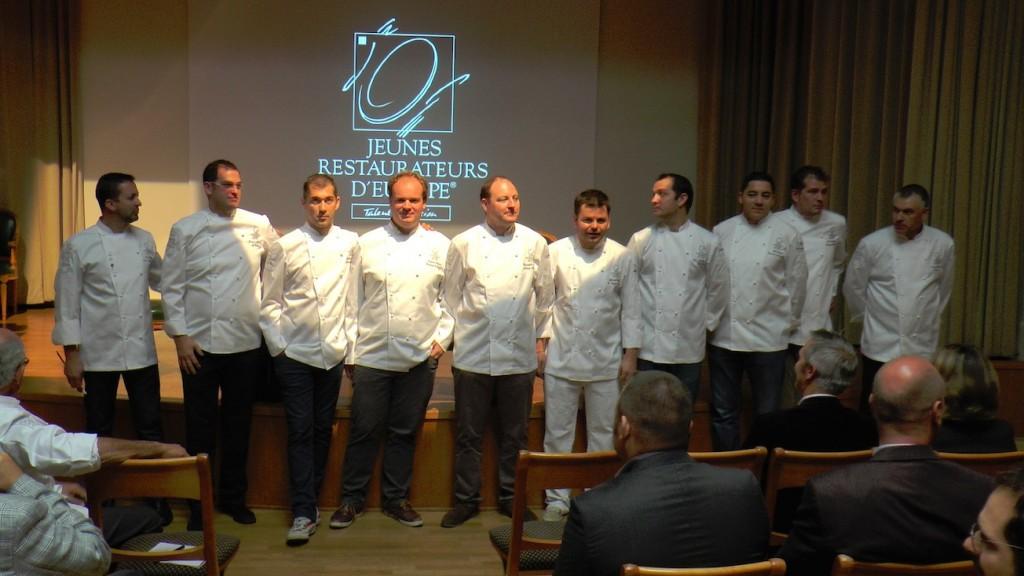 Quelques chefs Jeunes Restaurateurs d'Europe réunis pour l'anniversaire de leur 40 ans