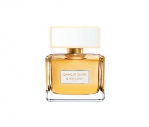 Un flacon cousu d'or avec dahlia Divin de Givenchy