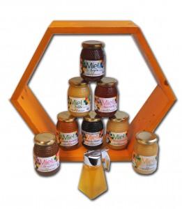 Les miels Villeneuve de l'Abeille Heureuse vendus en jardineries