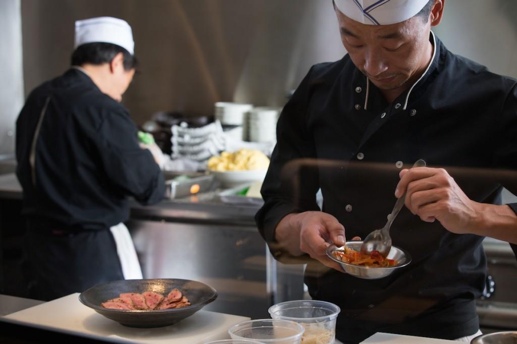 L 39 evasion des sens taokan for Cuisine ouverte baie vitree