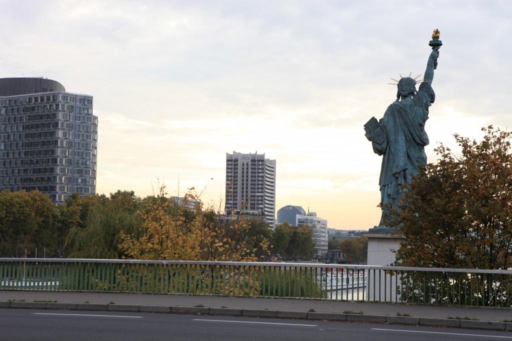 Vue avec la statue de la liberté