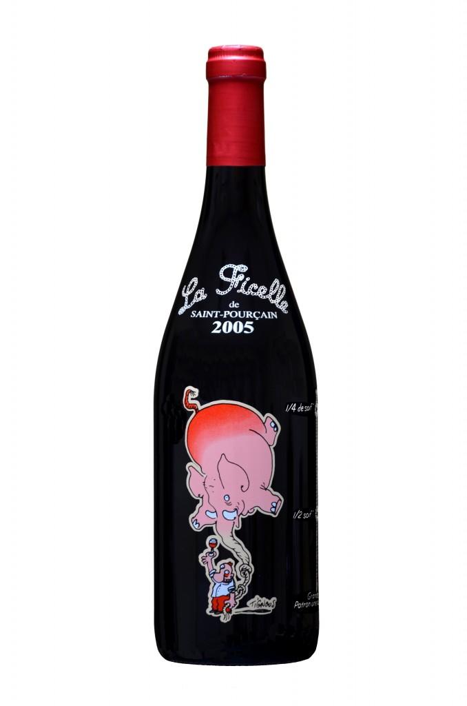 La Ficelle de St Pourçain 2005 avec le dessin de Pignous