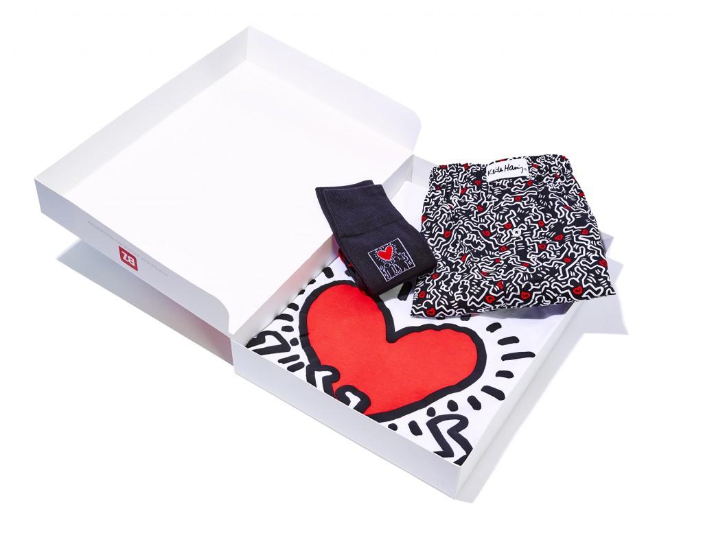 Enfin le cadeau qui va lui plaire : panoplie caleçon et chaussette de Keith Haring