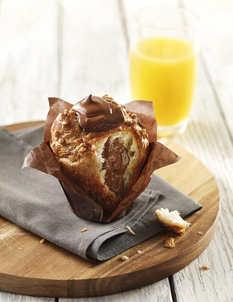 Plein de Nutella au coeur de cette muffinoiserie là : une tuerie !