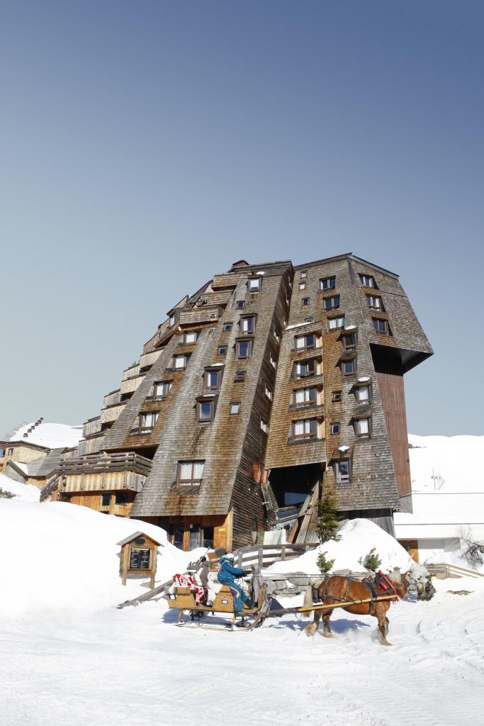 Le seul hôtel de la station piétonne d'Avoriaz