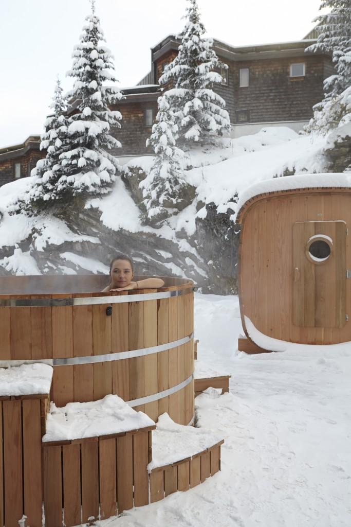 Saune at jacuzzi extérieurs