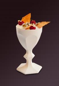 Le verre Harcourt transformé en dessert