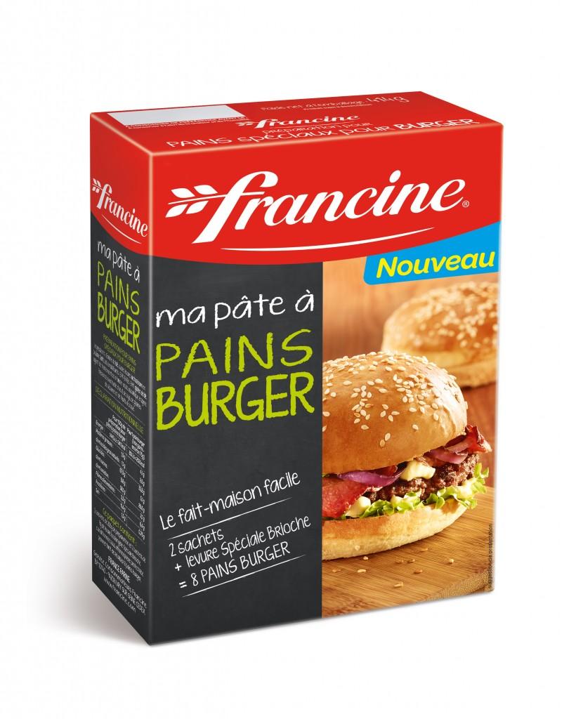 La pâte à burgers Francine