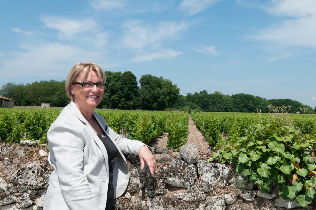 Madame Lévêque dans ses vignes de Chantegrive