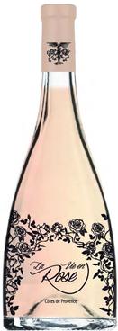 D'élégantes dentelles noires pour un vin non moins raffiné : La Vie en Rose du Château Roubine