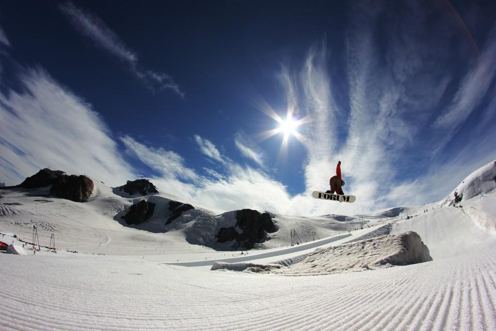 Près du Petit Cervin le glacier entre Zermatt et Cervinia