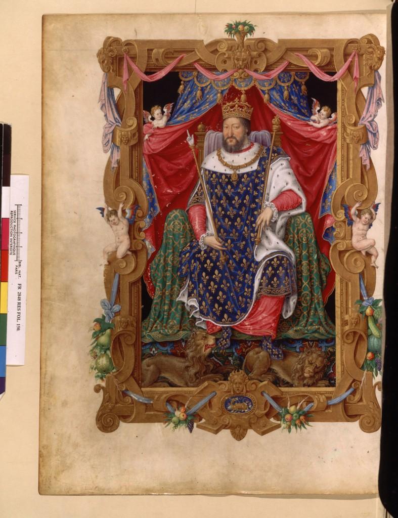 Portrait de François 1 er en habit de sacre
