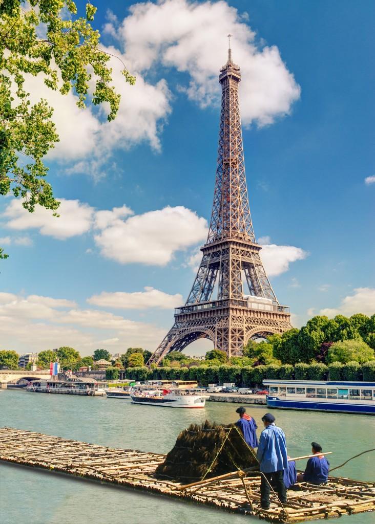 En fin de parcours, la Tour Eiffel