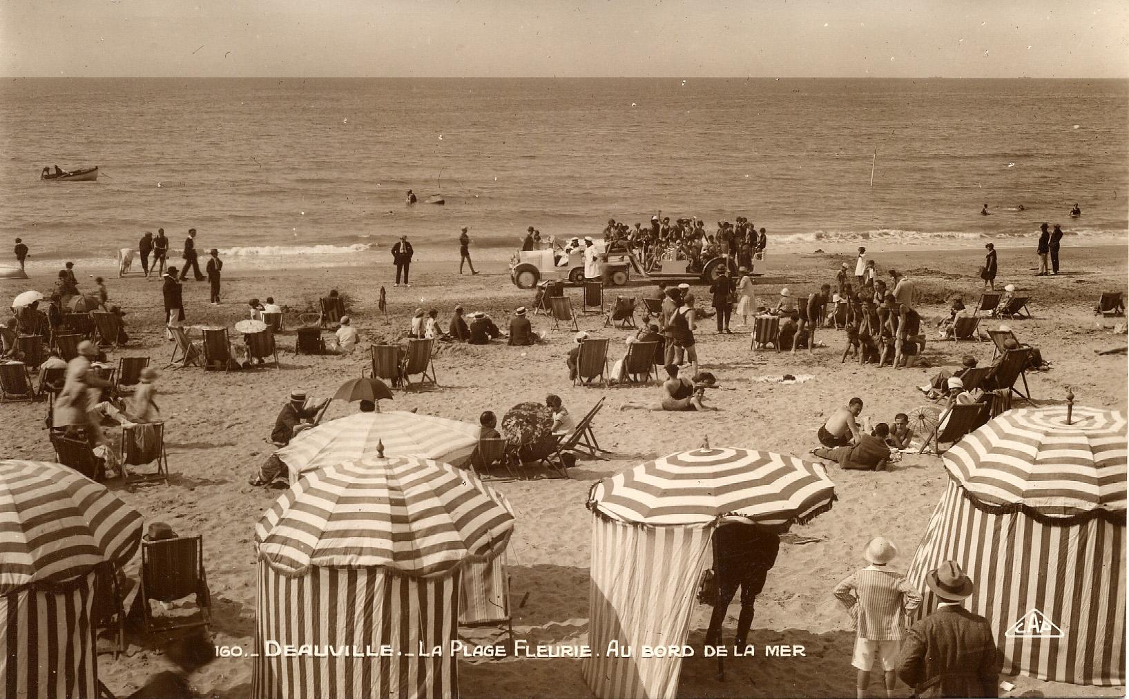 L'autochenille sur le sable