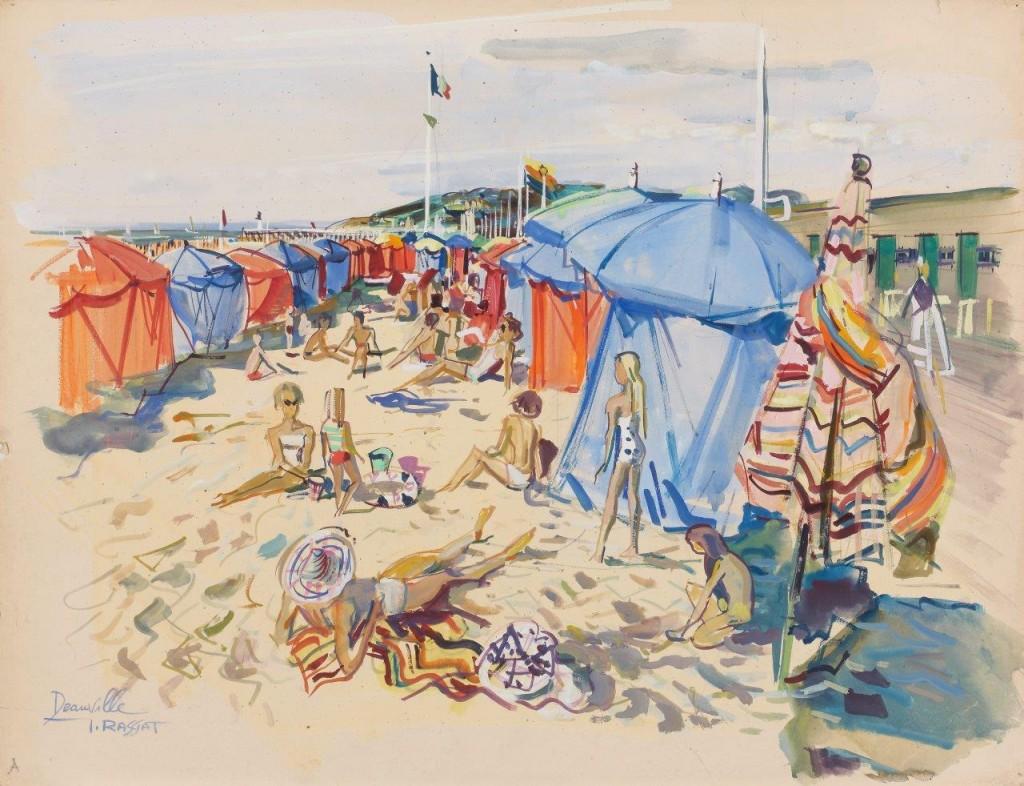 La plage de Deauville par James Rassiat