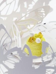 Planète citron givré de Lenôtre qui associe esthétisme et goût