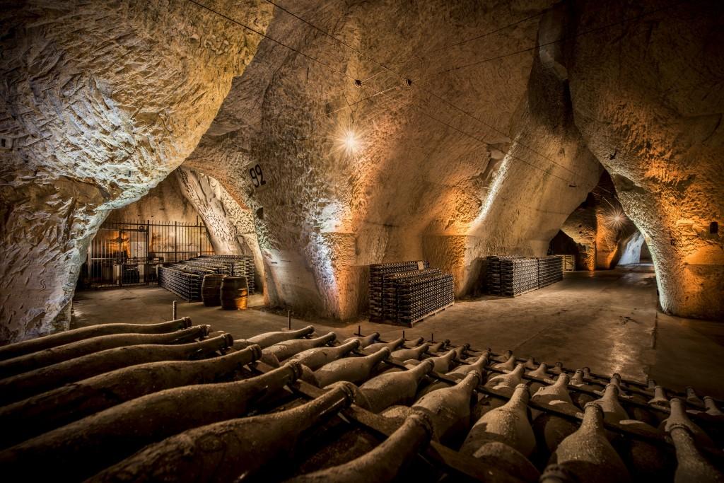 Caves de vieillissement de Veuve Clicquot