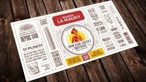 Vieille étiquette La Mauny