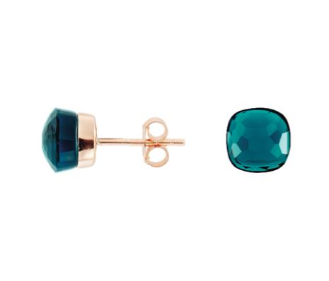 Boucles d'oreilles : argent doré oxyde bleu à 59 €