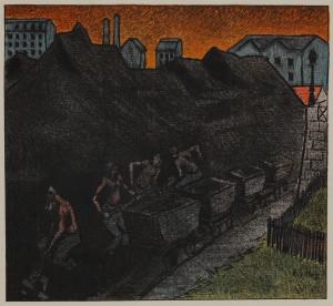 Illustration du programme de théâtte 'les tisserands' d'Ibels