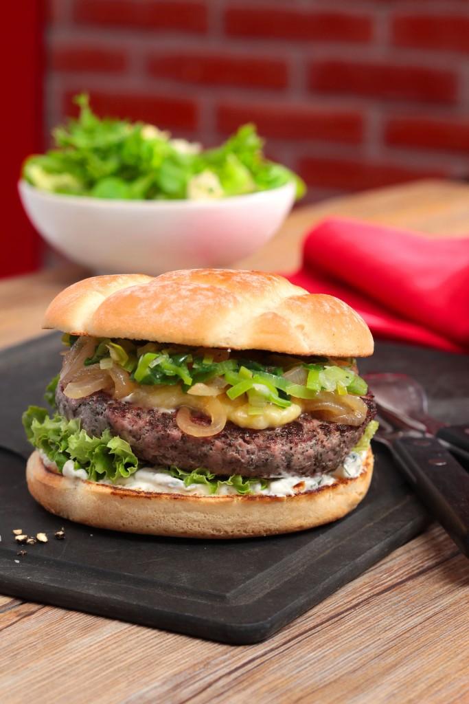 Excellent burger à l'agneau gallois